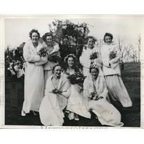 1933 Press Photo Jean Hoch May Queen of Northwestern University