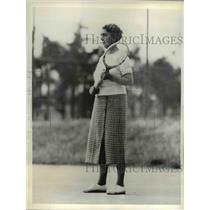1934 Press Photo Mrs. Richard Lovering on the tennis court at Pinehurst