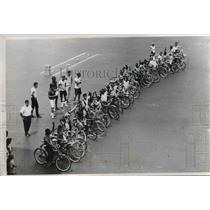1965 Press Photo Bicycle Brigade - nee23254
