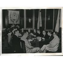 1933 Press Photo Chaco Territory Conference Desiderio Garcia A Cruchaga J Silva
