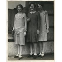1928 Press Photo Barbara Fitch, Mary Vance, Margaret Cunnings