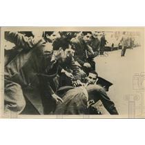 1949 Photo students riot against bus fare increase Santiago Chile