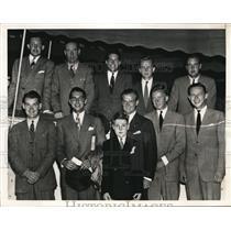 1937 Press Photo Yale golf team, Merritt, Munson Jr, Thomson, Bursodie