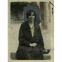 1923 Press Photo Mlle Henriette Saget, stenographer of Nantes France