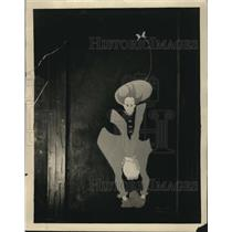 1923 Press Photo Vitalized Sillouette by Vyvyan Donner at Beefsteak Charlie's