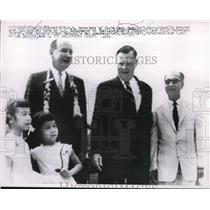 1961 Press Photo Secretary of the State Dean Rusk with Ambassador Johnson