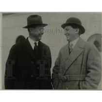 1923 Press Photo Rev. Bailleau and Tom Andrews - nee30170