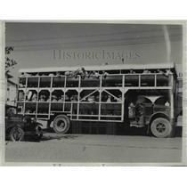 1933 Press Photo Motor News Double Decker Transportation bus - nee24463