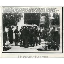 1957 Press Photo Coffin of Spanish Sportsman Marquis Alfonso de Portago, Spain