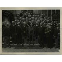 1931 Press Photo International Police Conference Delegates, Paris, France