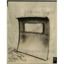 1929 Press Photo The rear panel of an all steel automobile body - nee25107
