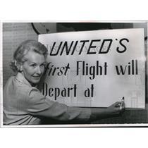 1966 Press Photo Miss Nancy Liccardi of United Air Lines - nee31270