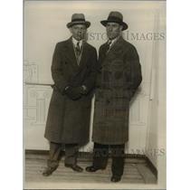 1928 Press Photo Orval H. Porter sails on S.S. Aquitanin with Eugene Westandiek