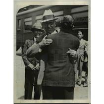 1932 Press Photo Pascual Ortiz Rubio Welcomed by Armando - nee29558