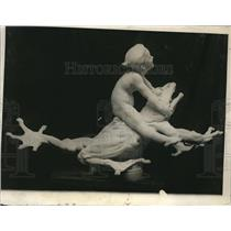 1924 Press Photo Model Proposed fountain for Famous Frog Pond on Boston Common