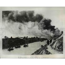 1938 Press Photo The Japanese troops march doggedly to their destination