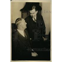 1924 Press Photo promoter Tex Rickard, atty Hyman Bushel at Daugherty Hearing