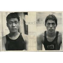 1932 Photo Japanese Olympic Team swimmers Takeo Miyamoto Hisakichi Toyoda