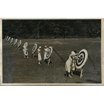 1931 Press Photo Westchester Archery contest at Ardsley NY - nes27962
