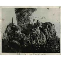 1932 Press Photo Huge Pipe in Old Stonyface on Geological Formation in Napa