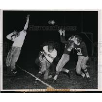 1950 Press Photo Manitowoc Wis Fond Du Lac HS football game Les Wilhelms