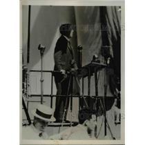 1935 Press Photo Rupert Hughes Gives Will Rogers Memorial Address - nee38785