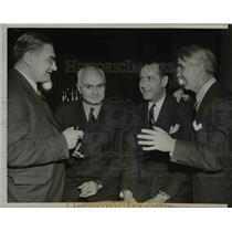 1940 Press Photo Lynn Waldorf, Bernie Bierman, Fritz Crisen & Bo McMillan Coachs