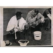 1936 Press Photo Tommy Hitchcock, Pete bostwick polo match - nes27645
