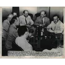 1951 Press Photo of the United Nations memebers with troops in Korea.