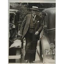 1932 Press Photo Dr. John Condon arrived at Criminal Identification Bureau