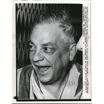 1959 Press Photo Lether Frazar tells newsman plans on acting governor of LA.