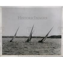 1934 Press Photo American 6 meter yachts in race to Bermuda - nes27550