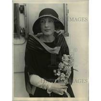 1923 Press Photo Elizabeth Canthra of New York on SS President Garfield