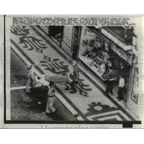 1962 Press Photo Engineer Antonio Martine Cortes borne away on Stretcher