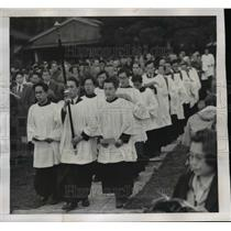 1946 Press Photo Toyko, Japan Centreal Theological College  - nee44263
