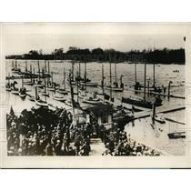 1928 Press Photo Leningrad Soviet Union Has its First Yachting Regatta
