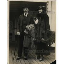 1915 Press Photo Mrs Anthony J Drexel Jr aka Marjory Gould Aboard S S New York