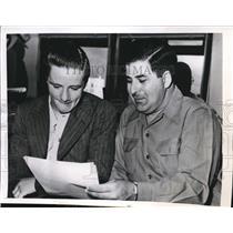 1946 Press Photo Robert Keane and B.J. Scoffro, Fixed race, Tropical Park, Fla.