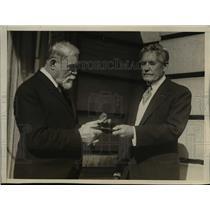 1926 Press Photo Myron T. Herrick, Professor Lucien Gallois Cullum Gold Medal