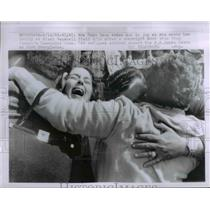 1963 Press Photo Mrs. Dora Leon meets her Family at Miami Baseball Field
