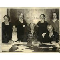 1934 Press Photo of the officers of Womens Farm Federation. - nee32930