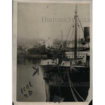 1922 Press Photo Prow of French Steamer Seine Ramming British S.S. Egypt