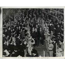 1941 Press Photo Pres. Avilla Camacho of Mexico arrives in Mexico City Florida