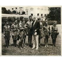 1931 Press Photo Eagle Boy Scouts John Quarles Herbert Hoover in Washington DC