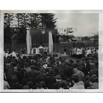 1946 Press Photo Tokyo, Japan Theological College St. Andrews Day Services