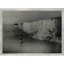 1940 Press Photo Beachy Head Cliffs of Dover during WWII pose obstacle to Hitler