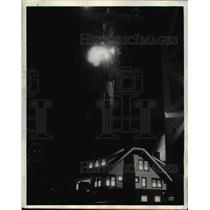 1945 Press Photo 3,000,000,Volts of Lightning Struck Transformer Westinghouse La