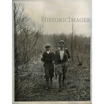 1933 Press Photo Charles Catanza, Bill McCullough after fishing - nee25513