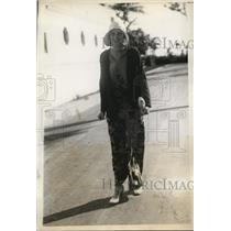 1930 Press Photo Miss Cynthia Pratt at Sea Spray BEach Palm Beach Fla