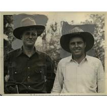 1934 Press Photo Dewey Farnworth and William Farnsworth - nee40303